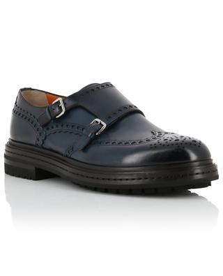 Schuhe aus Leder mit Doppelriemen SANTONI