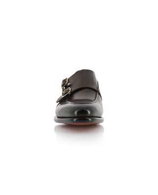Leather double buckle shoes SANTONI