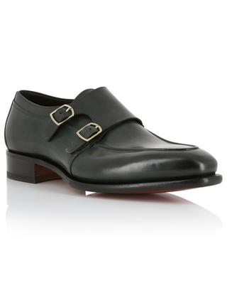 Leather double buckle shoes SANTONI