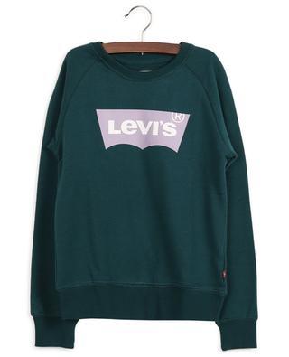 Sweat-shirt en coton mélangé imprimé logo LEVI'S KIDS