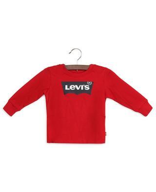 Cotton long-sleeve logo print T-shirt LEVI'S KIDS