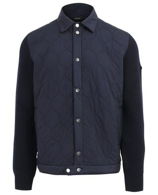 Knit cardigan with quilted nylon parts Z ZEGNA