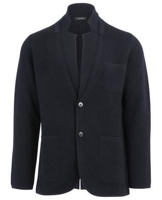 Single-breasted knit blazer Z ZEGNA