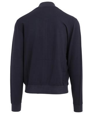 Sweat-shirt zippé en modal et coton Z ZEGNA