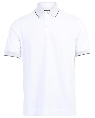 Short sleeved polo shirt with textured collar Z ZEGNA