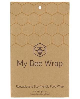 Emballage alimentaire réutilisable set de 4 MYBEEWRAP