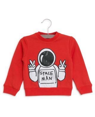 Sweat-shirt en coton durable Spaceman STELLA MCCARTNEY KIDS