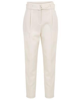 Fred textured wool carott trousers AKRIS PUNTO