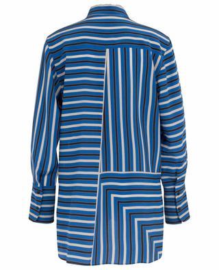 Lake Desert Black silk striped shirt AKRIS PUNTO