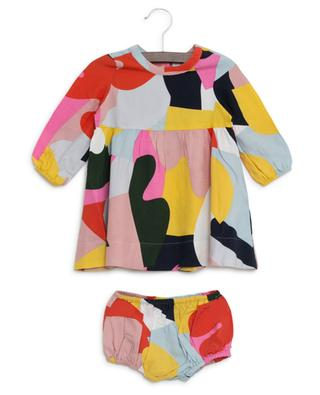 Buntes Kleid mit Bloomers Color Block STELLA MCCARTNEY KIDS