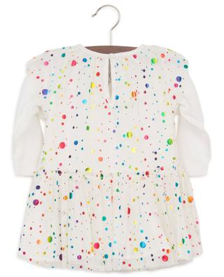 Multicolour Foil Dots baby tulle and jersey dress STELLA MCCARTNEY KIDS