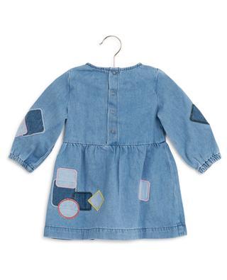 Denim dress with patches STELLA MCCARTNEY KIDS