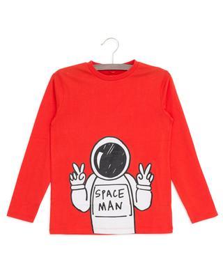 T-Shirt aus Baumwolle Spaceman STELLA MCCARTNEY KIDS
