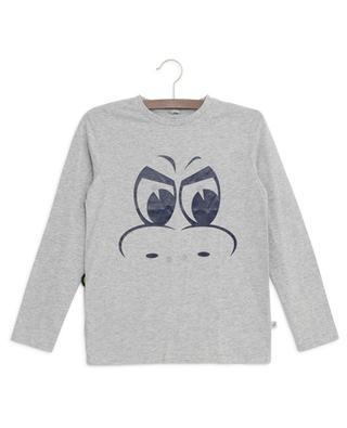 T-shirt en coton imprimé monstre avec patchs STELLA MCCARTNEY KIDS