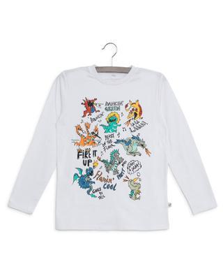 Dancing Dragons sustainable long-sleeved T-shirt STELLA MCCARTNEY KIDS
