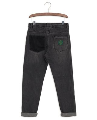 Slim fit cotton jeans with patches STELLA MCCARTNEY KIDS