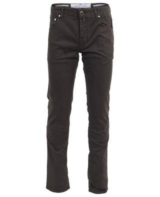 J622 print cotton blend slim jeans JACOB COHEN