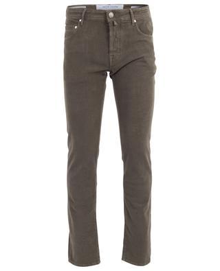 J622 print cotton slim jeans JACOB COHEN