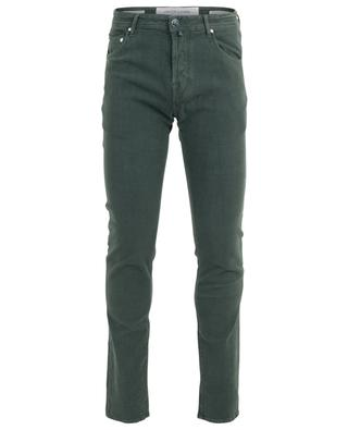 J622 print cotton slim jeans JACOB COHEN