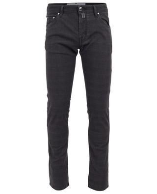 Jeans mit Glencheck-Print J622-COMF JACOB COHEN