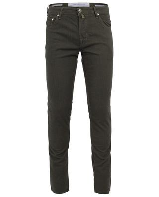 J622 cotton blend slim fit jeans with chevron pattern JACOB COHEN