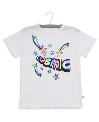 Cosmic metallic print sustainable T-shirt STELLA MCCARTNEY KIDS
