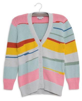 Multicolor Stripes sustainable cotton cardigan STELLA MCCARTNEY KIDS