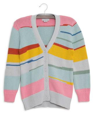 Cardigan en coton durable Multicolor Stripes STELLA MCCARTNEY KIDS