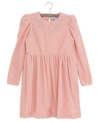 Robe en velours brodée étoiles STELLA MCCARTNEY KIDS