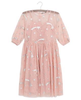Kleid aus Tüll mit silbernen Sternen STELLA MCCARTNEY KIDS
