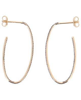 Ohrringe aus Roségold und schwarzen Diamanten Large Ellipse GINETTE NY