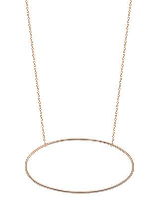Halskette aus Roségold Ellipse GINETTE NY