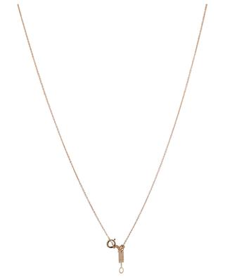 Ellipse pink gold necklace GINETTE NY