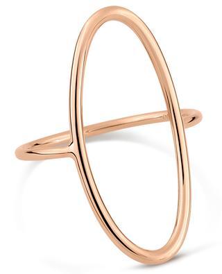 Bague en or rose Ellipse Ring GINETTE NY