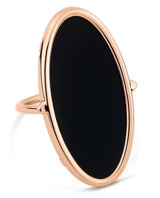 Ring aus Roségold Ellipse Onyx GINETTE NY