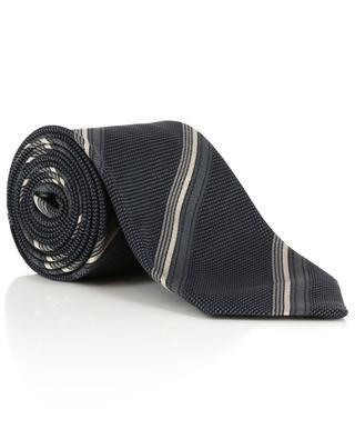 Striped textured silk tie TOM FORD