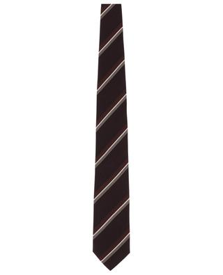 Striped textured silk tie TOM FORD