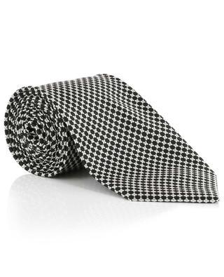 Getupfte texturierte Seidenmix-Krawatte TOM FORD