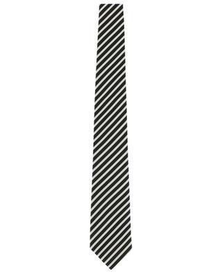 Textured silk striped tie TOM FORD