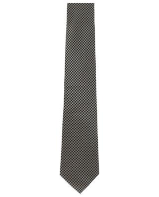 Krawatte aus Seidenmix mit Hahnentrittmuster TOM FORD