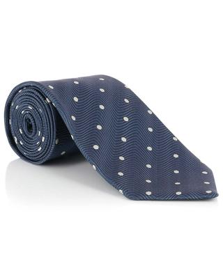 Polka dot print textured silk tie TOM FORD