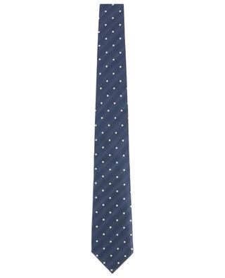Cravate à pois en soie texturée TOM FORD