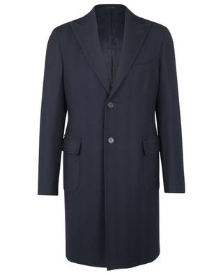 Virgin wool herringbone textured coat BONGENIE GRIEDER