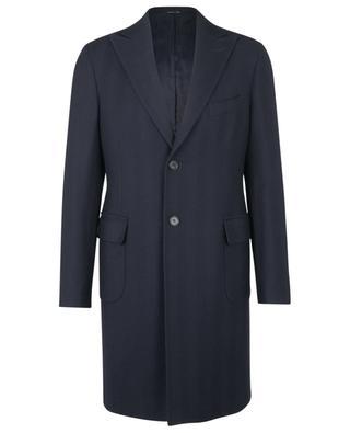 Manteau en laine vierge texture chevrons BONGENIE GRIEDER