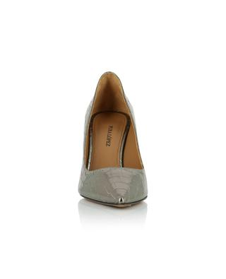 Olga croc effect silver patent leather pumps PURA LOPEZ