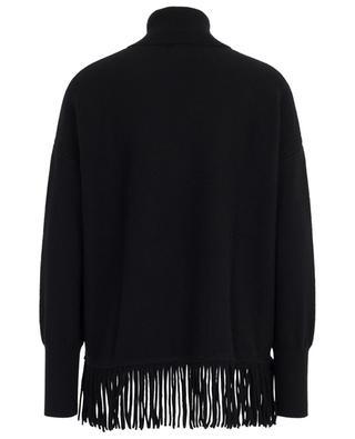 Turtle neck cashmere jumper with fringes FTC CASHMERE