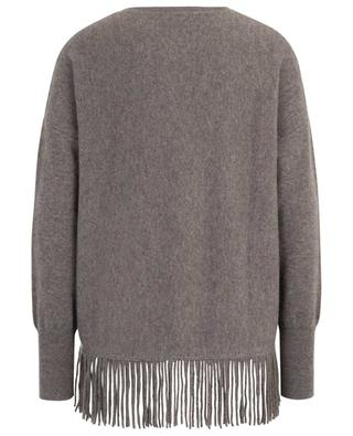 Cashmere round neck jumper with fringes FTC CASHMERE