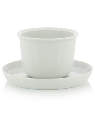 Tasse aus Porzellan mit Unterteller Leaves to Tea - 160 KINTO