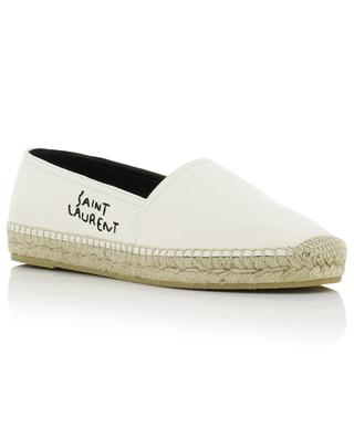 Espadrilles aus Used-Look-Segeltuch und Leder SAINT LAURENT PARIS