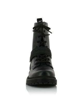 Calypso Stivale smooth and metallic leather lace-up booties MONCLER